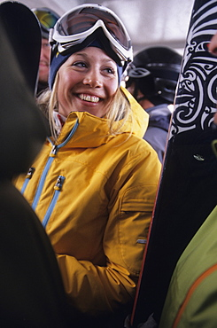 Caroline Schager on the tram in Jackson, Wyoming, United States of America