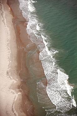Aerial view of a beach in North Carolina.