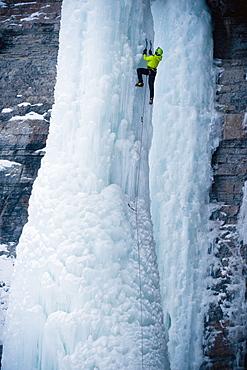 Ice Climbing in Vail Colorado.