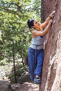 Strong female climber looks for next move to make