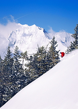 A man skiing at Alta, Utah