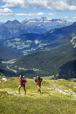 Hiking and trail running on the Alta Via 1 trail in the Dolomites.