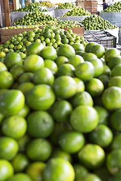 Limes are for sale at an open air market in Guatemala.
