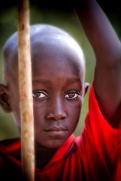 Senegalese Boy in St Louis in Senegal West Africa