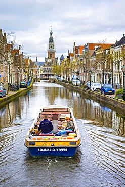 Waaggebouw And Canal In Alkmaar, Netherlands