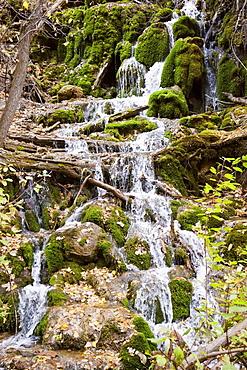 View Of Small Creek Waterfall Near Glenwood Springs In Colorado