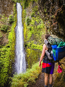 The Eagle Creek Alternative Trail, to the Pacific Crest Trail along the Columbia River Gorge