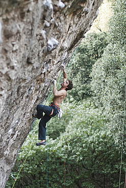 A Man Climbing In Jilotepec, Estado De Mexico, Mexico
