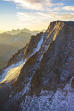 Mount Darwin and the Evolution Traverse, John Muir Wilderness, Kings Canyon National Park, Bishop, California.