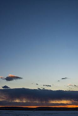 Scenic view of sky at sunset over Parker River, Parker River Wildlife Refuge, Newburyport, Massachusetts, USA