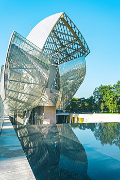 Futuristic architecture of Louis Vuitton Foundation building, Paris, France