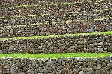 Detail Of Incan Agricultural Terraces; Moray Peru