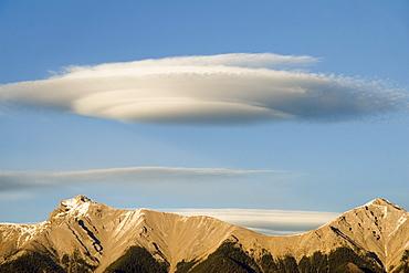 Saucer-Shaped Cloud, Kootenay Plains, Alberta, Canada