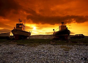 Boats On The Beach, Co Donegal, Magheraroarty, Ireland