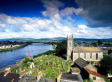St Mary's Cathedral, Limerick, River Shannon, County Limerick, Ireland