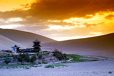Oasis In The Desert, Dunhuang, Gansu, China