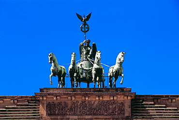 Quadriga Of Victory Atop The Brandenburg Gate, Berlin, Germany