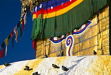 Detail Of Swayambhunath Buddhist Temple, Nepal
