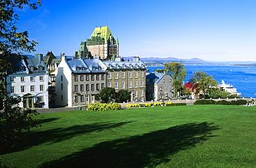 View Of Historic Québec City And The Saint Lawrence River, Québec, Canada