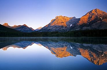 Mount Kidd Reflected In Wedge Pond, Kananaskis Country, Alberta, Canada
