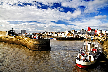 Boats In The Harbour Of Bridlington, England