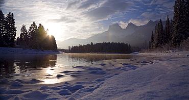 River In Canmore, Alberta, Canada