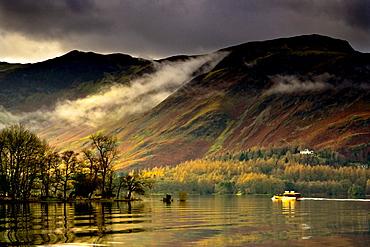 Boat On Lake Derwent, Cumbria, England