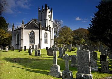 A Church And Cemetery, Scotland