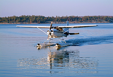 A Float Plane On Water