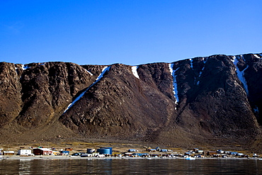 Eskimo Village In Nunavut, Canada