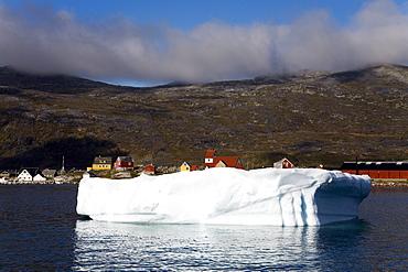 Iceberg, Port Of Nanortalik, Island Of Qoornoq, Province Of Kitaa, Southern Greenland, Kingdom Of Denmark