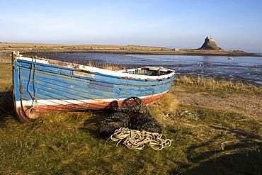Boat On Shore, Near Holy Island, England