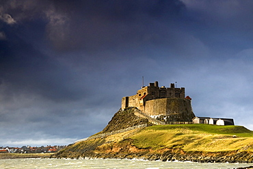 Lindisfarne Castle On A Volcanic Mound Called Beblowe Craig, Holy Island, Bewick, England