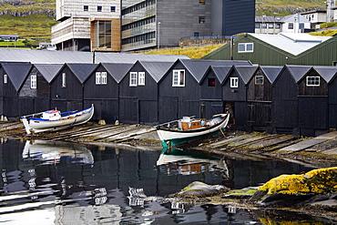 Boat Houses, Port Of Torshavn, Faroe Islands, Kingdom Of Denmark