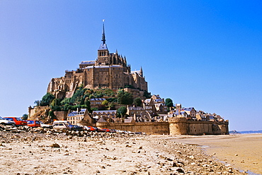 Mont Saint Michel Monastery On Normandy Coast, France