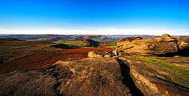 Higger Tor, Peak District National Park, Derbyshire, England, Europe