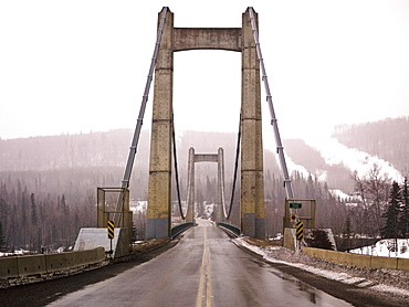 Hudson's Hope Suspension Bridge, Peace River Regional District, British Columbia, Canada