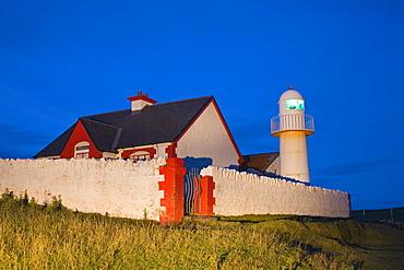 Dingle, Dingle Peninsula, County Kerry, Ireland, Lighthouse At Dusk