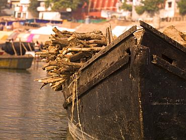 Loaded Boat, Varanasi, India