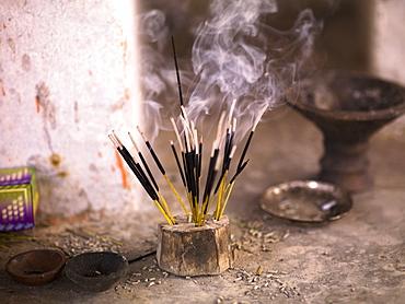 Burning Incense, Aravalli Hills Of Rajasthan, India