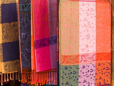 Indian Fabric On Display, Cochin, Kerala India
