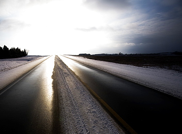 Road Through Winter Landscape