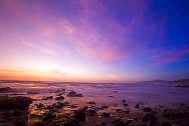 Ocean At Sunset, Oregon Coast, Usa