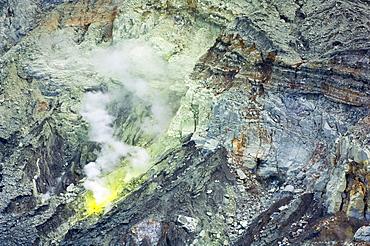 Sulfur Vent In Poas Volcano, Costa Rica