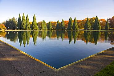 Pond In Eastmorland Park, Portland, Oregon, Usa