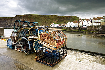 Lobster Traps, Staithes, North Yorkshire, England