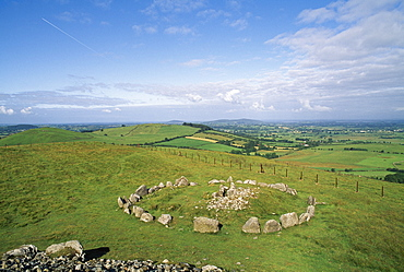 Stone Circle In A Country Field, Co Meath, Slieve Na Calliagh, Ireland