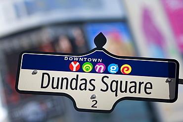 Dundas Square Sign, Toronto, Ontario, Canada