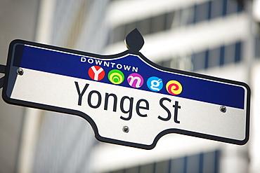 Toronto, Ontario, Canada, Yonge Street Sign