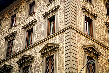 Florence, Italy, 16Th Century Palazzo With Ornate Facade